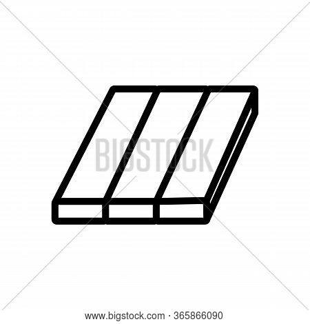 Laminate Material Icon Vector. Laminate Material Sign. Isolated Contour Symbol Illustration