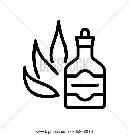 Agave Tincture Icon Vector. Agave Tincture Sign. Isolated Contour Symbol Illustration