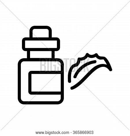 Aloe Vera Elixir Icon Vector. Aloe Vera Elixir Sign. Isolated Contour Symbol Illustration