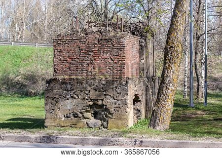 The Ruins Of The Monument Of The Great Patriotic War.