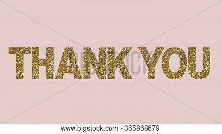 Thank You Text Appreciation Thanks Thanking Golden Text