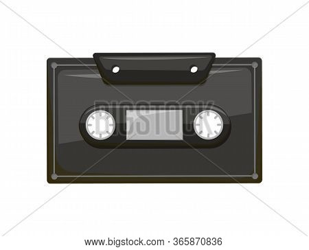 Compact Audio Cassette Analog Magnetic Tape Recording Format For Audio Recording And Playback. Retro