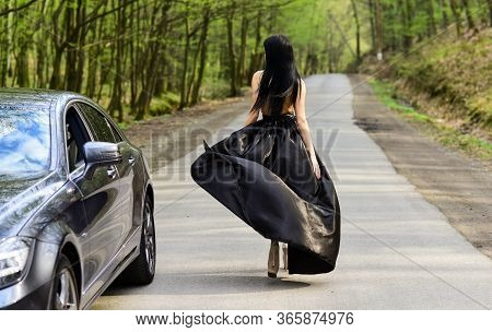 Glamorous Girl And Luxury Car. Escort And Sexual Services. Driver Girl. Beauty And Fashion. Woman In