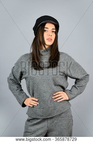 Fashionable Knitwear. Warm Comfortable Clothes. Casual Style For Every Day. Knitwear Concept. Feel C