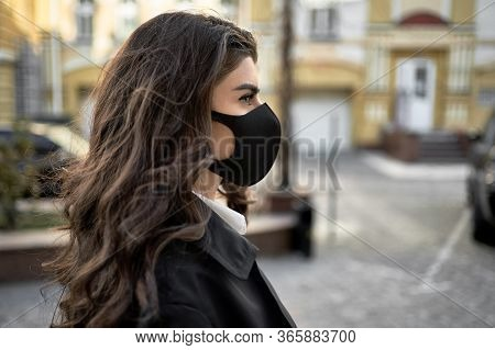 Girl Posing Outdoors During Pandemic Of Covid-19