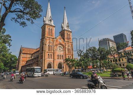 Notre Dame De Saigon. Ho Chi Minh, Vietnam - March 19, 2020