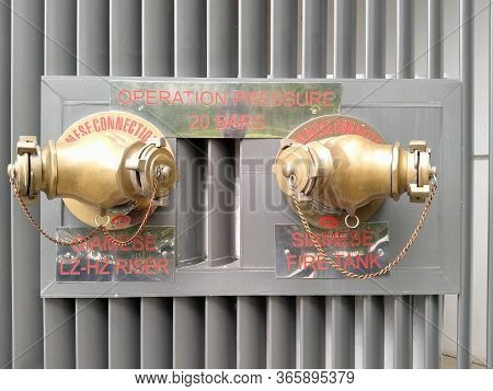 Wtc Ii, Sudirman, Jakarta, Indonesia - April 28, 2020 : Hydrants Installed In The Office Area. Place