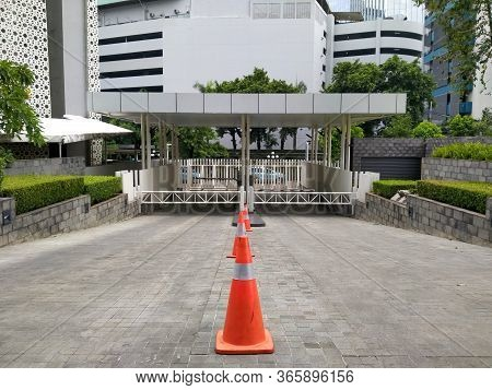 Wtc Ii, Sudirman, Jakarta, Indonesia - April 28, 2020 : Exit Parking Areas That Are Closed During Th