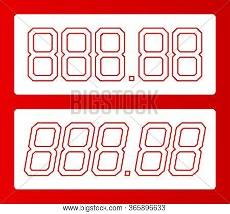 All Digit Price Template. 88.88 Shape Of Number For Writing Or Drawing Cost. Store Price Label For R