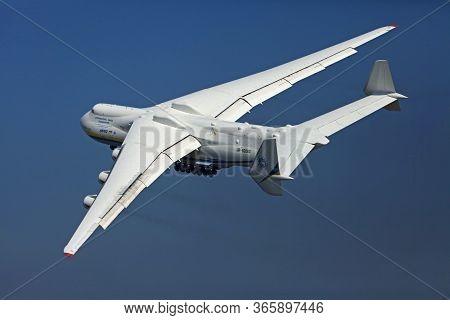 Gostomel, Ukraine - September 27, 2012: The Biggest Cargo Plane In The World, An-225 (mriya). Ukrain