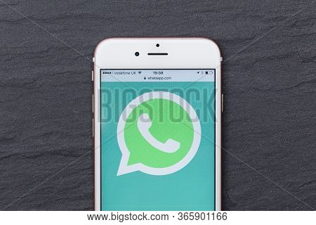London, Uk - March 2017: Whatsapp Social Messaging App Logo On A Smartphone.