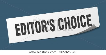 Editors Choice Sticker. Editors Choice Square Sign. Editors Choice. Peeler
