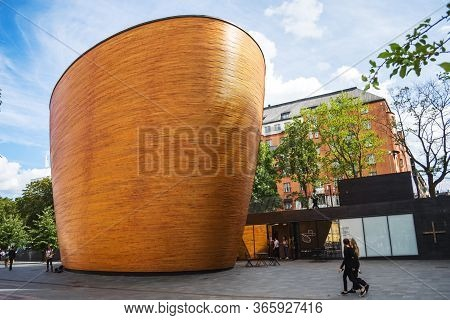 Helsinki, Finland - August 5, 2018: Kamppi Chapel - Chapel Of Silence It Is Intended To Be Place To