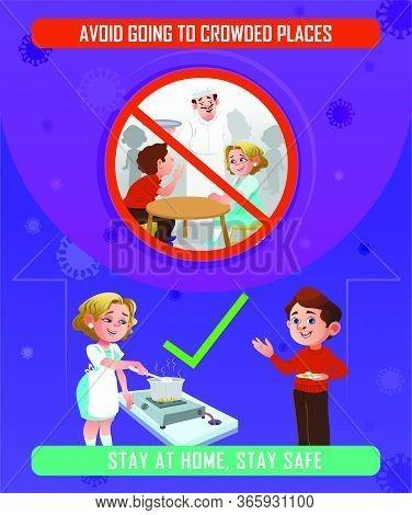 Socail Distance Vector Illustrations, Precaution Of New Coronavirus