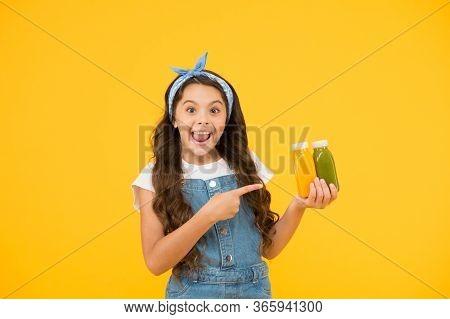 Living Healthy Life. Vitamin Juice. Fresh Smoothie. Girl Drinking Orange Fresh Smoothie. Vegetarian