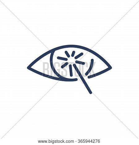 Laser Vision Correction Thin Line Icon. Improvement, Health, Eye Isolated Outline Sign. Ophthalmolog