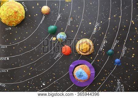 Solar System 3 D Model Step By Step . Solar System Picture Gantt Chart For Hostel Management System