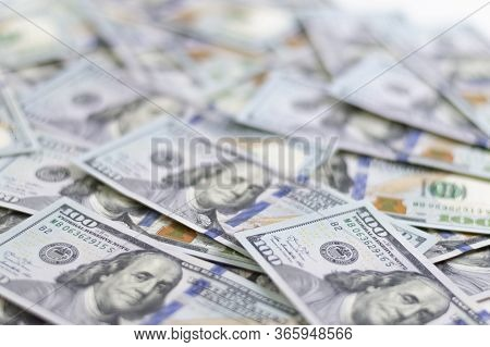 Hundred Dollar Bills. American Dollars In Cash. Cash One Hundred Dollar Bills, High Resolution Dolla