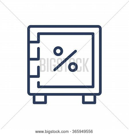 Safe-deposit Box Thin Line Icon. Safety, Protection, Money Isolated Outline Sign. Bank Deposit And S