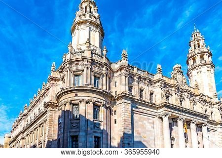 The Central Post Office Building (correos Y Telégrafos) In Barcelona, Spain Designed In 1914 By Arch