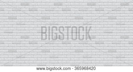 Brick Grey Wall Seamless Pattern Background. Gray, White, Light Brick Wall Vector Texture Pattern Il