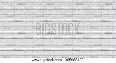 Brick Grey Wall Seamless Pattern Background. Gray, White, Light Brick Wall Vector Texture Pattern Il