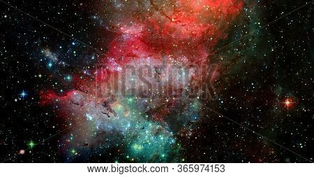 Galactic Background. Elements Of This Image Furnished By Nasa.