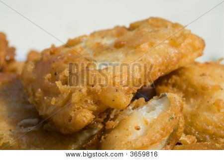Fried Salted Cod-Fish Ready For A Meal