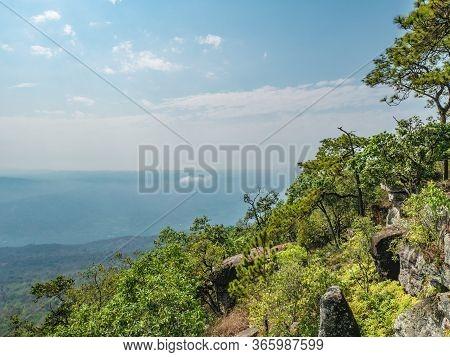 Beautiful Scenery View From Phu Kradueng Mountain National Park In Loei City Thailand.phu Kradueng M