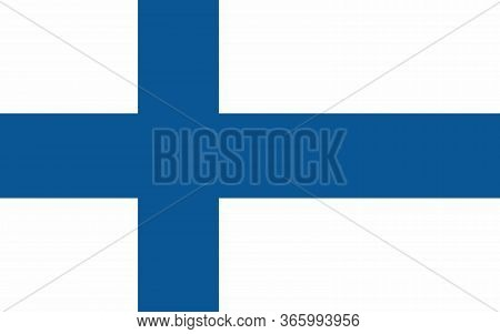 Finland Flag Vector Graphic. Rectangle Finnish Flag Illustration. Finland Country Flag Is A Symbol O