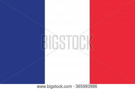 France Flag Vector Graphic. Rectangle French Flag Illustration. France Country Flag Is A Symbol Of F