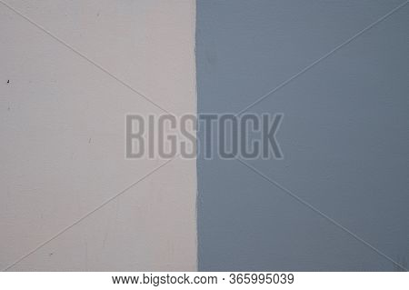 Wall Painted Two Tone Of Old Concrete. Concept Of Decoration Home
