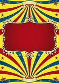 old circus paper. Circus background with an old red frame for your advertising. poster