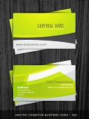 stylish clean and simple business card template poster