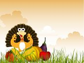 Thanksgiving background. EPS 10. poster
