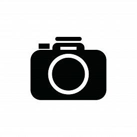 Photo Camera Icon On White Background, Photo Camera Icon, Photo Camera Vector Icon, Eps Photo Camera