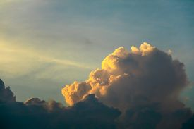 Sunset Cloud Sunshine In Dark Sky Soft Cloud Background