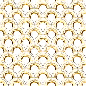 Art Deco Seamless Pattern Set. Art Deco Pattern With Gold Rhombuses On A White, Black, Blue Backgrou