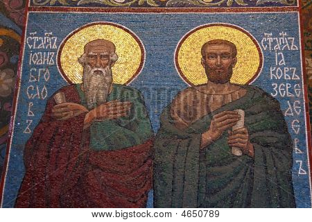 Saint John The Evangelist Mosaic In Orthodox Church