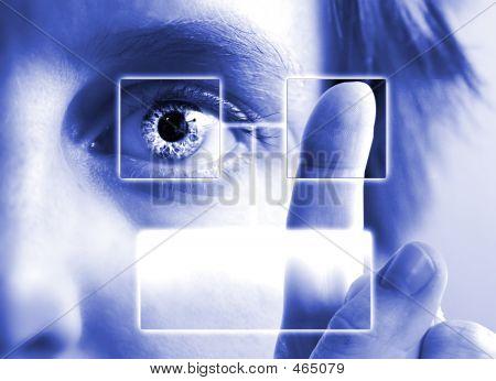 Fingerabdruck, Iris-Scan
