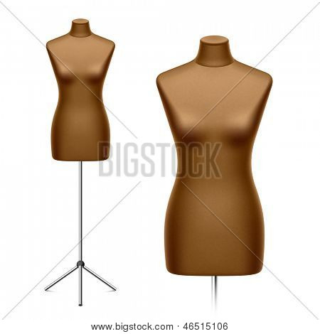 Female tailor's dummy, mannequin. Vector.