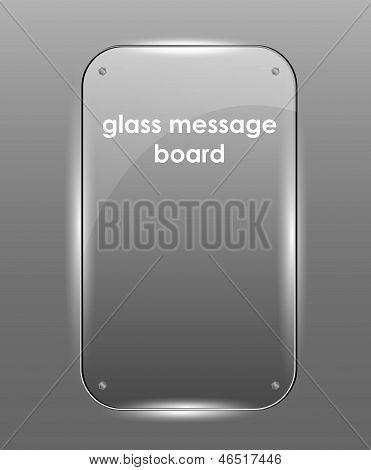 Beautiful Vector Glass Frame