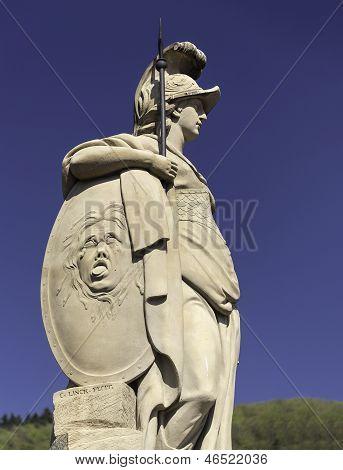 Statue In Old Town Of Heidelberg Germany