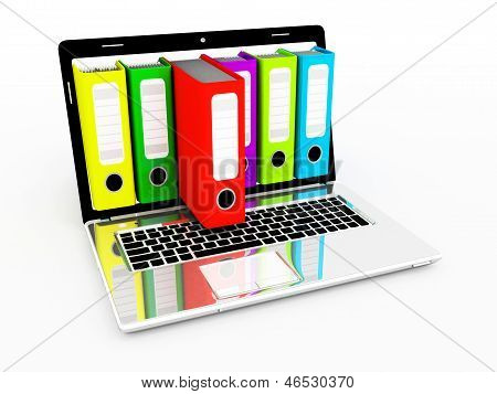 Laptop and archive folders