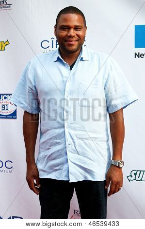 NEW YORK-MAY 30: Actor Anthony Anderson attends the 5th annual Tuck's Celebrity Billiards Tournament at Slate NYC on May 30, 2013 in New York City.