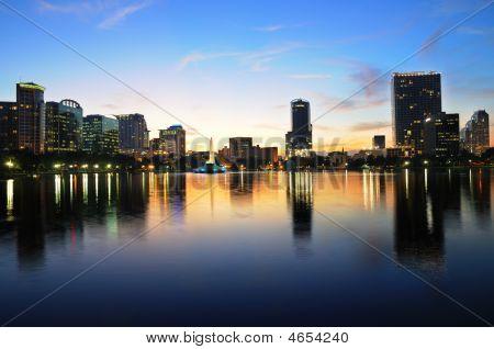 Dowtown Orlando, Fl At Twilight