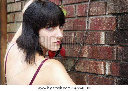 Brick Wall Portrait