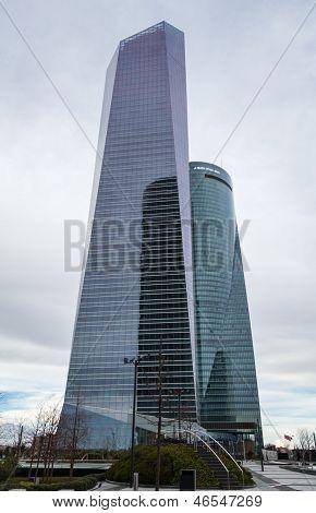 Cuatro Torres Business Area (ctba) Building Skyscrapers, In Madrid, Spain
