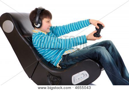 Boy In Ergonomic Chair