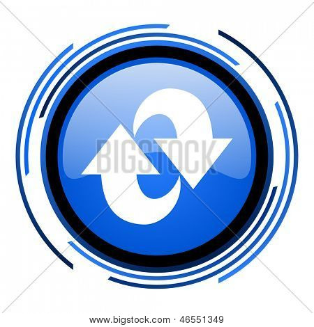rotate circle blue glossy icon